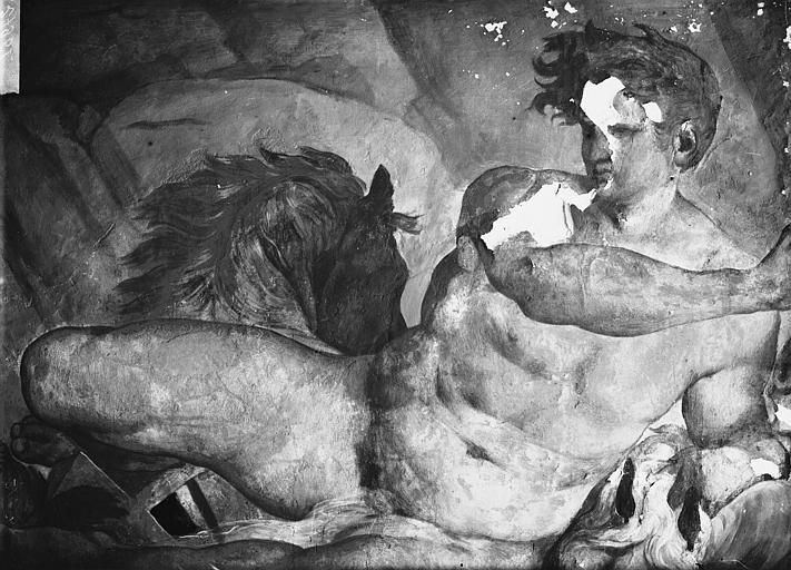 Domaine national, château Peintures murales de la galerie Henri II, le Temps, Phaïton, Service photographique,