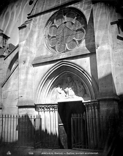 Eglise Saint-Denys Portail ouest, Durand, Eugène (photographe),