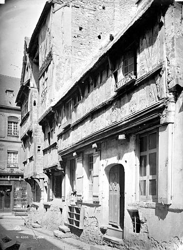Maison en pans de bois Façade sur rue, Mieusement, Médéric (photographe),