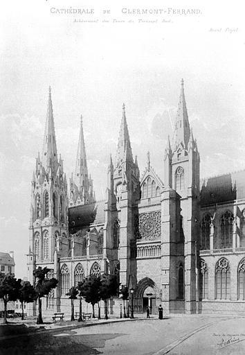 Cathédrale Notre-Dame Relevé, Chaine, Henri (architecte),