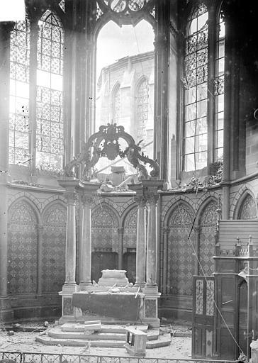 Cathédrale Notre-Dame Vue intérieure de la chapelle absidale, Sainsaulieu, Max (photographe),