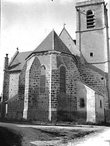 Eglise Abside et clocher, Louzier (photographe),