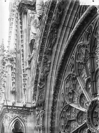 Cathédrale Notre-Dame Voussure de la rose, côté gauche, Lajoie, Abel,