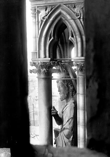 Cathédrale Notre-Dame Buste de statue, contrefort de la tour nord, Lajoie, Abel,