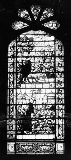 Hôpital Vitrail de la chapelle  : La Manne. Le Serpent d'airain, Heuzé, Henri (photographe),