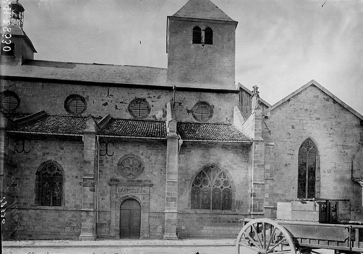 Eglise Notre-Dame Façade sud, Enlart, Camille (historien),