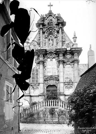 Chapelle des Soeurs de la Charité ; Eglise Sainte-Marie Façade ouest, Mieusement, Médéric (photographe),