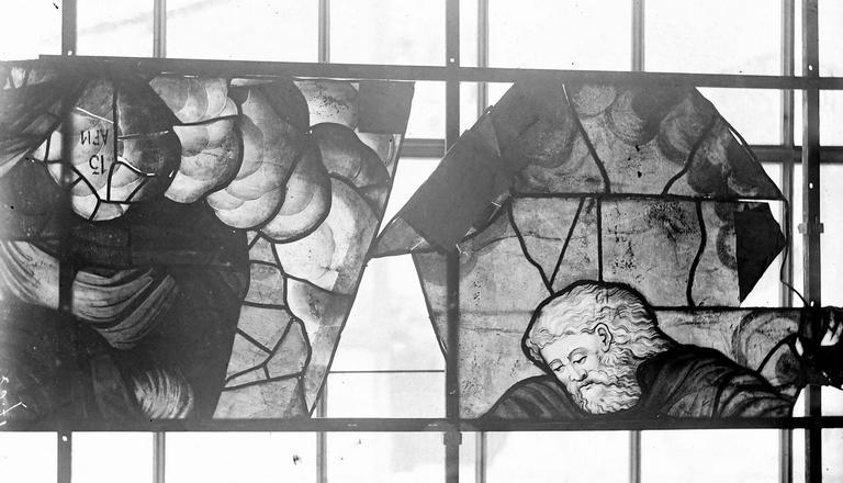 Eglise Vitraux, panneaux 14 et 15 de la baie G, Nadeau, H. (photographe),