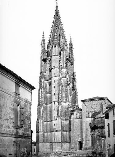 Eglise Saint-Eutrope Clocher et façade ouest, Mieusement, Médéric (photographe),