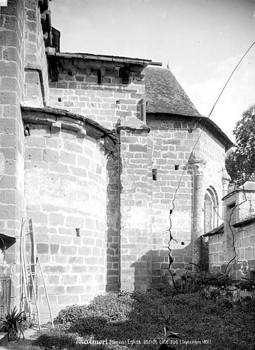 Eglise Saint-Sanctin ou Saint-Xantin Abside, côté sud, Mieusement, Médéric (photographe),