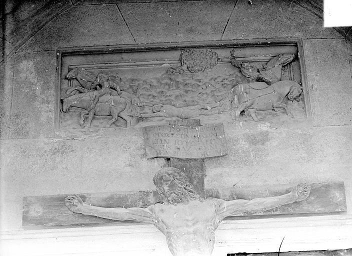 Eglise Saint-Hippolyte Bas-relief : Martyre de saint Hippolyte, Gossin (photographe),