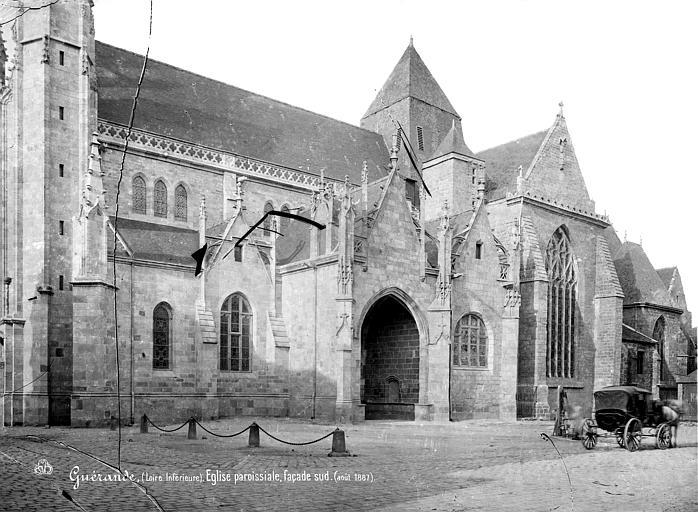 Eglise Saint-Aubin (ancienne collégiale) Façade sud, Mieusement, Médéric (photographe),
