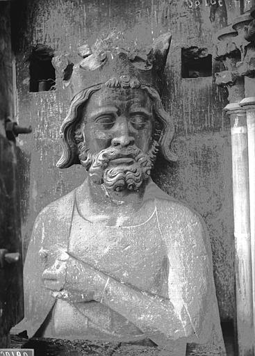 Cathédrale Notre-Dame Buste de roi, Lajoie, Abel,