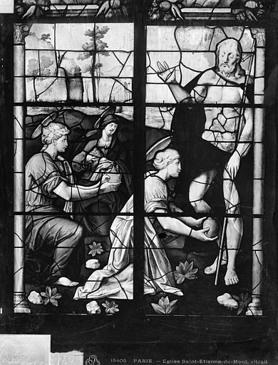 Eglise Saint-Etienne-du-Mont Vitrail : Vie du Christ, Leprévost (photographe),