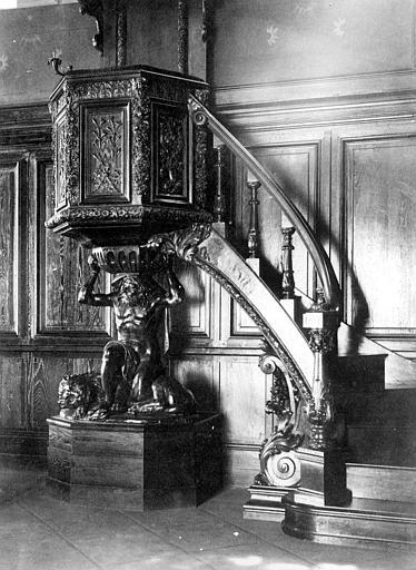 Hôpital Chapelle, chaire, détail, Heuzé, Henri (photographe),