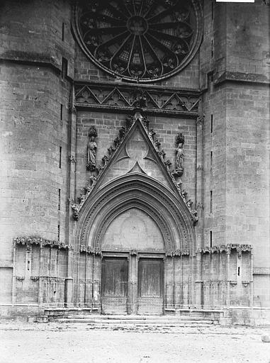 Cathédrale Saint-Nazaire Portail ouest, Enlart, Camille (historien),