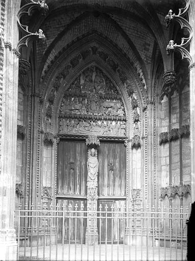 Eglise Saint-Ouen Portail latéral dit des marmousets, Enlart, Camille (historien),