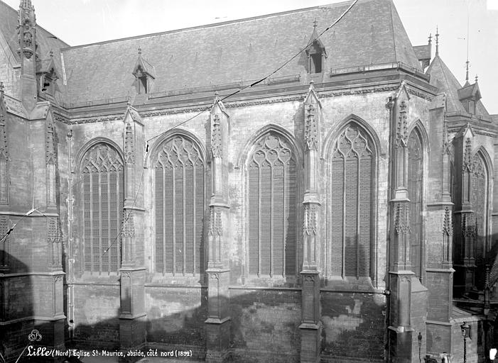 Eglise Saint-Maurice Abside, côté sud, Robert, Paul (photographe),