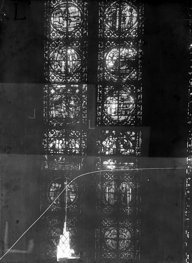 Cathédrale Notre-Dame Chapelles du choeur, vitrail L', Gaudin,