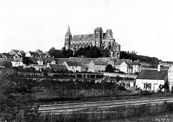 Abbaye Saint-Nicolas (ancienne) Eglise : vue générale prise du sud, Le Secq, Henri (photographe),