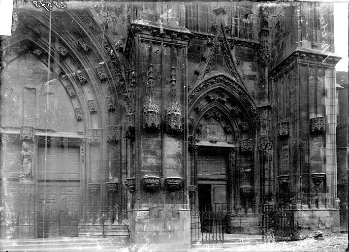Basilique Saint-Nicolas Portail ouest: partie droite, Enlart, Camille (historien),