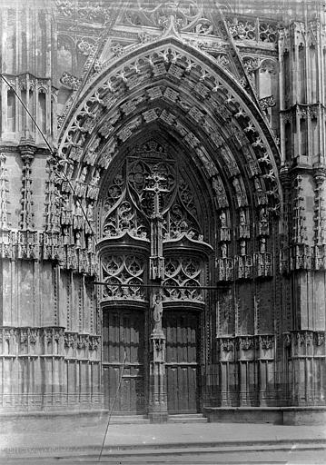 Cathédrale Saint-Gatien Portail central de la façade ouest, Mieusement, Médéric (photographe),