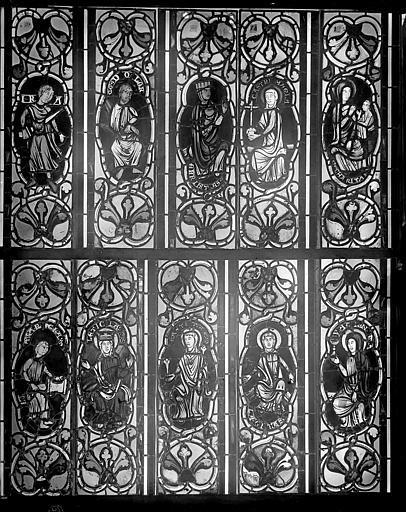 Cathédrale Saint-Jean Vitrail : figures de saints, ,