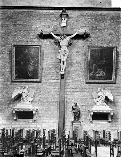 Cathédrale Saint-Bénigne Grand calvaire, vue d'ensemble, Gossin (photographe),