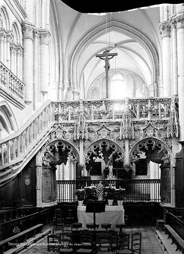 Eglise de la Madeleine Jubé, côté du choeur, Robert, Paul (photographe),