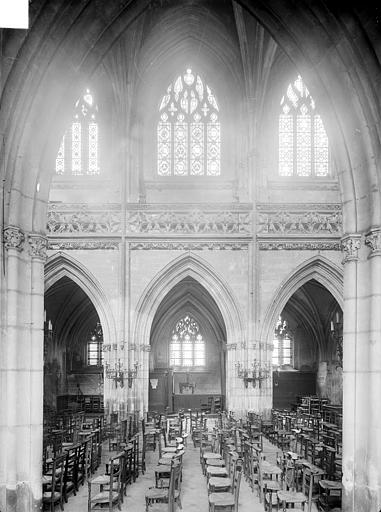 Eglise Saint-Jean Vue intérieure de la nef, vers le sud : grandes arcades, Heuzé, Henri (photographe),