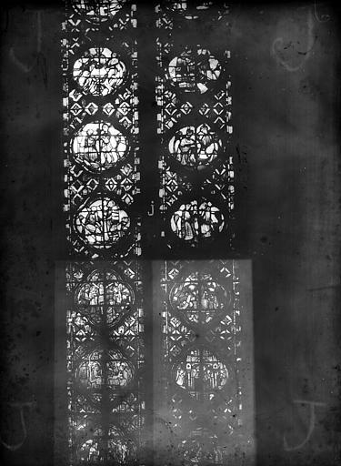 Cathédrale Notre-Dame Chapelles du choeur, vitrail J', Gaudin,