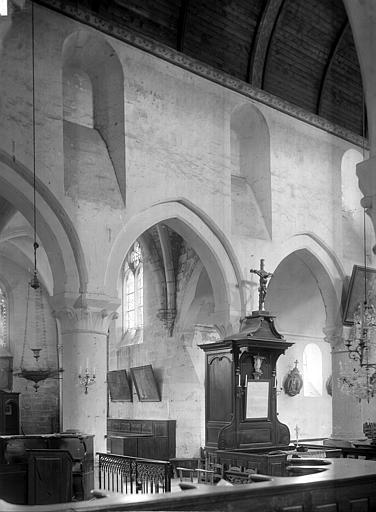 Eglise Saint-Gervais Vue intérieure du choeur : Deux travées, Durand, Jean-Eugène (photographe),