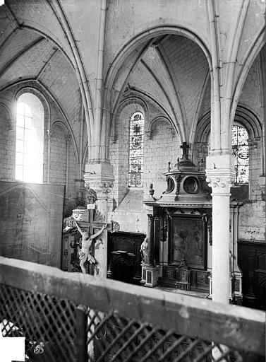 Hôtel-Dieu (ancien hôpital Saint-Jean) Chapelle : Vue intérieure prise de la tribune, Carlier (photographe),