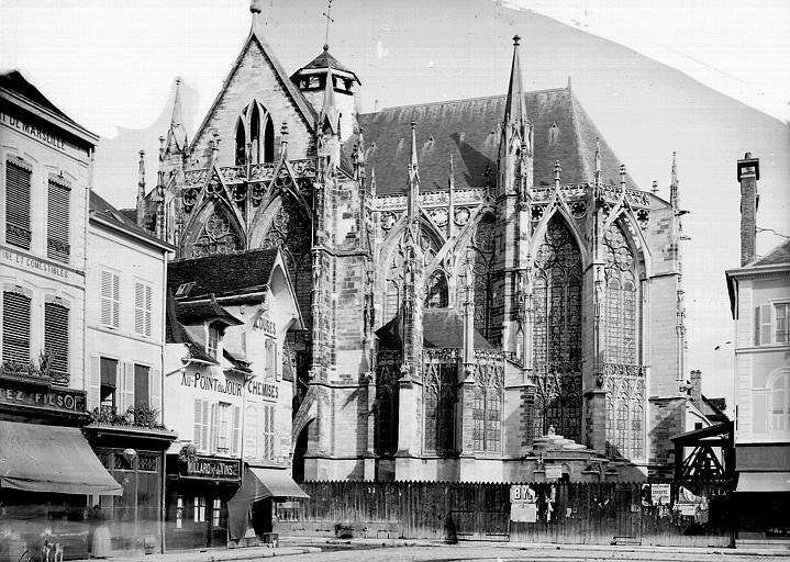 Eglise Saint-Urbain Abside, côté sud, Enlart, Camille (historien),