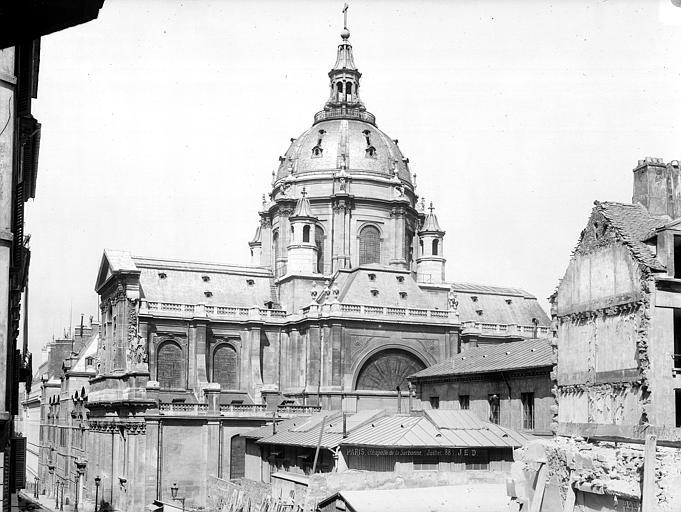 Sorbonne (La) ; Chapelle de la Sorbonne Chapelle : Ensemble sud, Durand, Jean-Eugène (photographe),