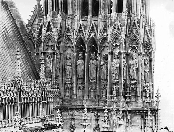 Cathédrale Notre-Dame Galerie des Rois, côté est et tour nord, Lajoie, Abel,