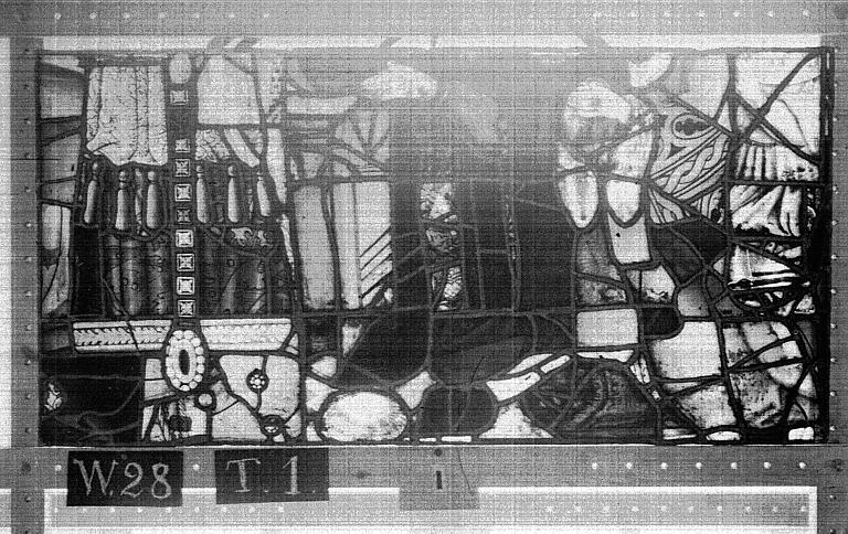 Cathédrale Vitrail, Chapelle Saint-Joseph, lancette gauche, Légende de saint Romain, onzième panneau, en haut, Heuzé, Henri (photographe),