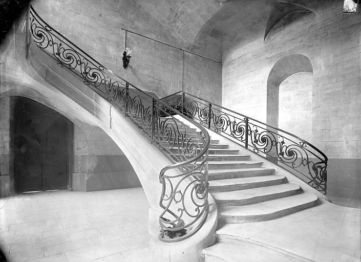 Abbaye aux Hommes (ancienne) 2ème escalier, Durand, Jean-Eugène (photographe),
