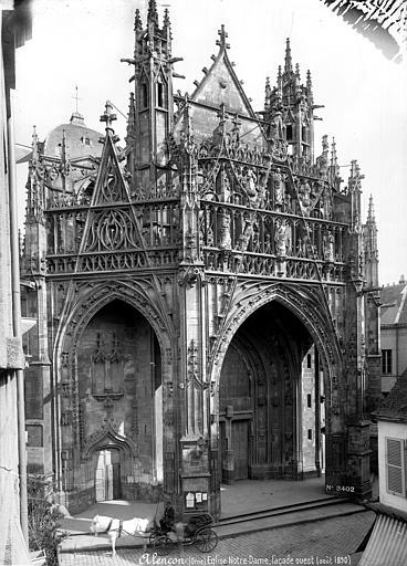Eglise Notre-Dame Façade ouest : porche, Mieusement, Médéric (photographe),