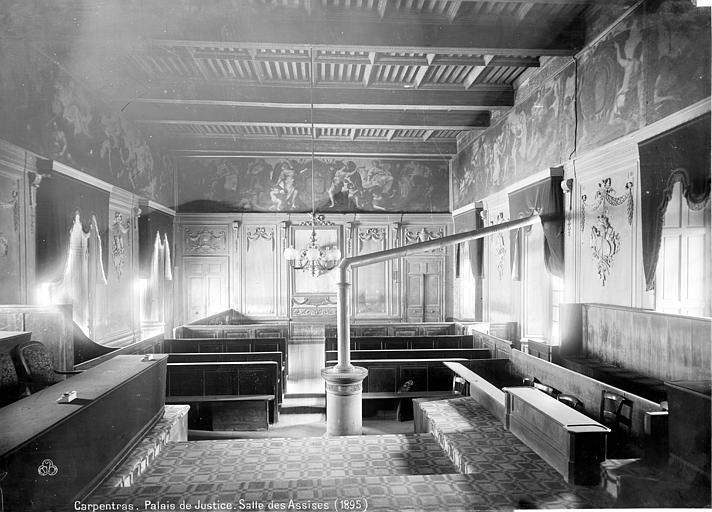 Palais épiscopal (ancien) ; Palais de Justice Salle des Assises, Mieusement, Médéric (photographe),