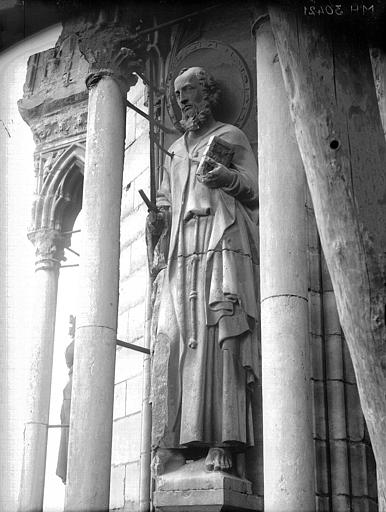 Cathédrale Notre-Dame Tour sud, statue de saint Paul, Lajoie, Abel,