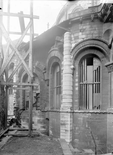 Abbaye Saint-Martin-des-Champs (ancienne)/Eglise Saint-Martin-des-Champs Abside à l'est, échafaudage, Durand, Eugène (photographe),