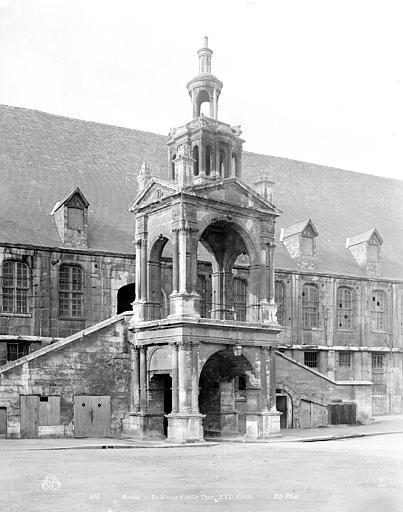 Fierte Saint-Romain ou chapelle Saint-Romain à la  Haute-Vieille-Tour Plan de la haute vieille tour, Neurdein Frères (photographes),