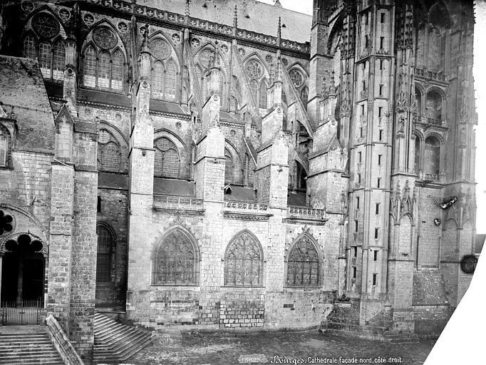 Cathédrale Saint-Etienne Façade nord : partie ouest, Mieusement, Médéric (photographe),