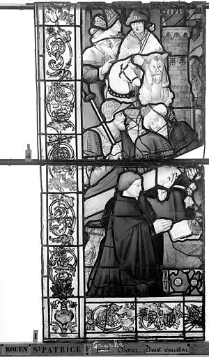 Eglise Saint-Patrice Vitrail, fenêtre gauche, neuvième panneau, Heuzé, Henri (photographe),