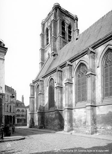 Fort Saint-Sauveur (ancien) Chapelle : Façade sud et clocher, Robert, Paul (photographe),