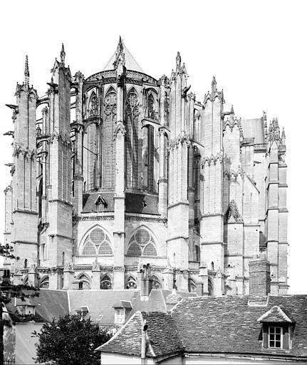 Cathédrale Saint-Pierre Abside, côté nord-est, Mieusement, Médéric (photographe),