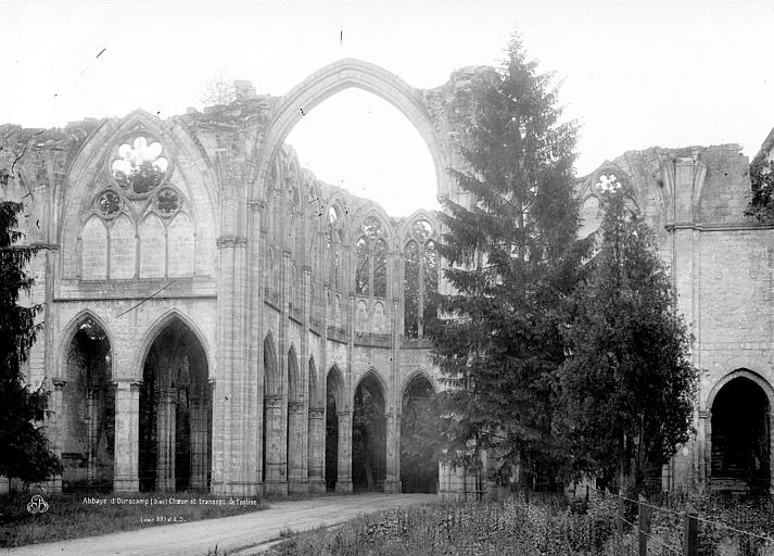 Abbaye (ancienne) Choeur, église, Durand, Eugène (photographe),