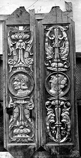 Palais de Justice Salle, boiseries du plafond, déposées, Delaunay (auteur de la reproduction) ; Bourgogne, L. (photographe),