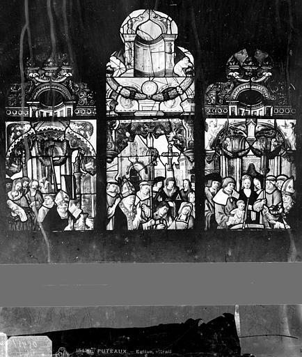 Eglise Vitrail : sujet légendaire, Leprévost (photographe),